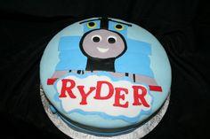 Thomas the Train Cake. Cakes by Kat