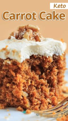 This Keto Carrot Cake is perfect all year round! Its one of those keto recipes you will want to make over and over again. This Keto Carrot Cake is perfect all year round! Its one of those keto recipes you will want to make over and over again. Keto Desserts, Keto Friendly Desserts, Keto Snacks, Dessert Recipes, Holiday Desserts, Desserts With No Sugar, Recipes Dinner, Carb Free Desserts, Breakfast Recipes