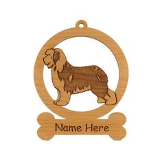 Old English Sheepdog Ornament 083636 Personalized With Your Dog's Name