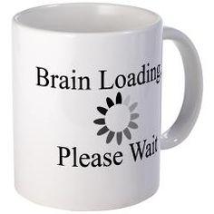 Brain Loading Circle Mug $15.00