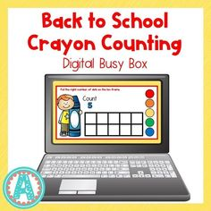 This fun digital busy box is perfect for online instruction or distance learning with your preschool, pre-k, or kindergarten kiddos! It works on multiple platforms and in the classroom for counting practice! #mrsasroom Preschool Math, Kindergarten Math, Powerpoint Format, Teaching Numbers, Busy Boxes, Number Activities, School Resources, Task Cards, Math Centers