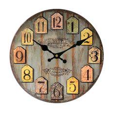 "14"" Chic Rustic Wall Clock"