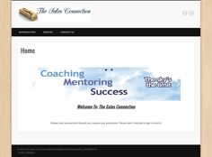 The Sales Connection - Designed & Maintained by HB WEB Sales Coaching, Connection, Success, How To Get, Design