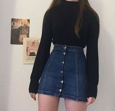 Here's Stylish korean fashion outfits 5802787251 Edgy Outfits, Mode Outfits, Cute Casual Outfits, Grunge Outfits, Fall Outfits, Fashion Outfits, Fashion Belts, Womens Fashion, Korean Outfits Cute