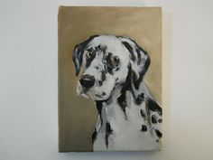 Original dog painting of a Dalmatian portrait by BushmanStudio, $65.00