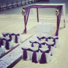 Purple Beach Ceremony