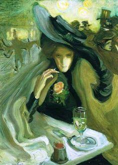 """Absinthe"" (1902) by Swedish Axel Törneman (1880-1925)"