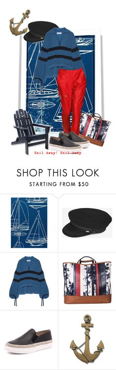 """Sail Away! Sail Away!"" by the-house-of-kasin ❤ liked on Polyvore featuring Jaipur, Yves Saint Laurent, Sonia Rykiel, Helmut Lang, Steve Madden, L.L.Bean and Nautical"