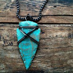 Sagittarius Arrowhead Necklace Tribal Wire by MistyMountainForge