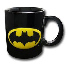 Batman Embossed Symbol 20 oz Ceramic Mug