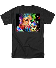 Prince Grunge T-Shirt featuring the mixed media Prince Grunge by Daniel Janda