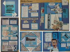 Finanční gramotnost - Lapbook Bulletin Boards, Finance, Education, Math, Plants, Projects, Display Boards, Bulletin Board, Math Resources