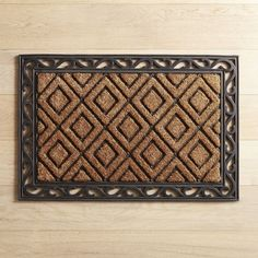 Diamond & Scroll 24x36 Doormat