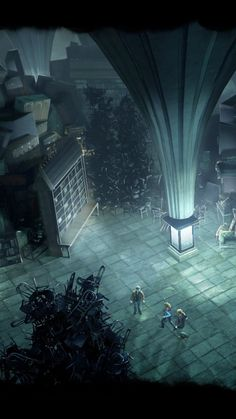 The Room of Requirement, The room is located on the seventh floor in the left corridor of the Hogwarts castle and has a hidden entrance opposite the tapestry depicting the attempt of Barnabas the Barmy to teach trolls ballet. The way to open the room is to walk past it three times thinking about what you need, and the door will appear.