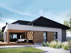 Visit Us For More Industrial Urban Loft Designs Modern Family House, Modern Bungalow House, Tiny House Exterior, Model House Plan, Loft Design, Small House Design, Facade House, House Layouts, House Colors