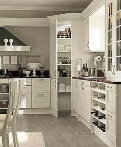 corner pantry ideas - Fake door style