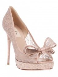 VALENTINO Couture-Bow Lace Platform Pump Pink $725  http://hollyrotic.mybigcommerce.com/valentino-couture-bow-lace-platform-pump-pink-725/  ALSO AVAILABLE IN BLACK and RED