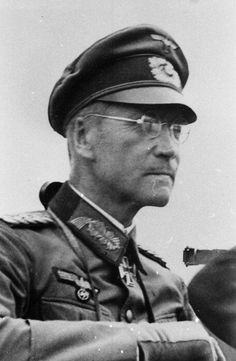General der Artillerie Erich Marcks (06 June 1891 - 12 June 1944), chief of staff VIII. Korps 1935, chief of staff 18. Armee 1940. Commander 1. Artillerie Division 1933, 337. Infanterie Division 1940, 101. Infanterie Division,  LXVI Armeekorps,  LXXXVII Armeekorps,  LXXXIV Armeekorps. Knight's Cross of the Iron Cross on 26 June 1941 as Generalleutnant and commander of 101. Infanterie Division,  503rd Oak Leaves on 24 June 1944 (posthumously).