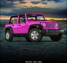 Pink jeep wrangler :) can't lie, if were a two door i'd want it!
