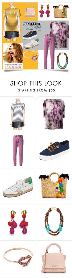 """""""My Style"""" by mkrish ❤ liked on Polyvore featuring Celestine, Être Cécile, Ermanno Gallamini, Marc Jacobs, Sperry, Golden Goose, JADEtribe, Lizzie Fortunato, Kenneth Jay Lane and Sydney Evan"""