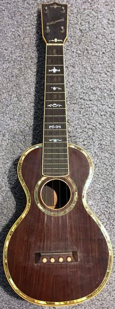 late 20s Schireson Bros. Hollywood style 10 (I think - what is now) Concert Ukulele  -Submitted by Jeremy Erdheim (I do take submissions especially if the are this beautiful) --- https://www.pinterest.com/lardyfatboy/