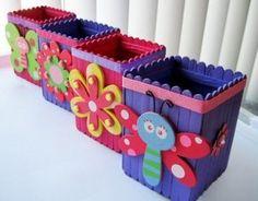 Diy wood crafts for kids popsicle sticks 38 Super ideas Kids Crafts, Projects For Kids, Diy For Kids, Easy Crafts, Diy And Crafts, Craft Projects, Arts And Crafts, Craft Ideas, Diy Ideas