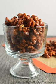 Toffee Walnuts are an easy to make recipe amazing plain, served with cheese, dessert, or as a topping for salad from Serena Bakes Simply From Scratch. Candy Recipes, Sweet Recipes, Holiday Recipes, Snack Recipes, Cooking Recipes, Cooking Tips, Spiced Nuts, Walnut Recipes, Candied Walnuts