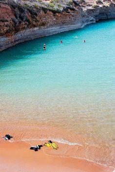 Canal d 'amour at Sidari, Corfu, Greece