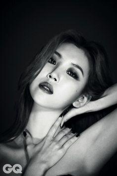 Wonder Girls' Sunmi is a vixen in all black for 'GQ' | allkpop.com