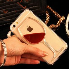 Trendy Red Wine Glass iPhone Case