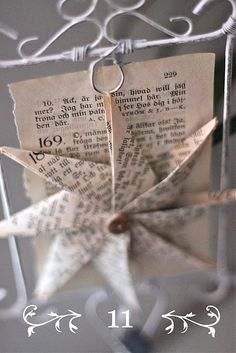 Paper Star made using this tutorial http://www.homebylinn.blogspot.ie/2011/11/papirstjerne-slik-lagar-du-den.html