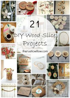 these are cute!!! diy wood slice roundup