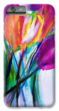 Tulips Today 1 iPhone 6 Plus Case by Gale Patterson.