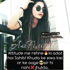 #Ånam khan*** Attitude Quotes For Girls, Girl Attitude, Girly Quotes, Qoutes, Child, Mom, Fashion, Feminist Quotes, Quotations