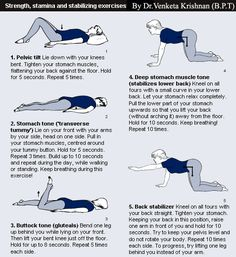 Lower Back Pain Exercises And Stretches . . . because at 28 my body feels more like 58