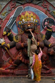 Offerings at Durbar Square, Kathmandu, Nepal by morten.hammer