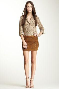 Suede Fertility Mini Skirt