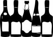 Wine Bottles...i could make this out of wood and paint it...hmmm