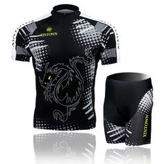 Baleaf Men s Short Sleeve Cycling Jersey 3D Padded Short Set Black Dragon  Style M Baleaf http e5e0ccc4f