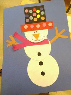 Doodle Bugs Teaching .. snowman craftivity art project for kindergarten, first grade, second grade