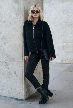 AVA - High Heel Stiefelette - black