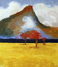 Flame Trees and Pulpit Rock by Arthur Boyd