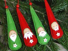 5 adornos de Navidad con fieltro