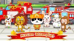 Tu es un vrai héros, Kiki ! Bravo ! dans KIKI PETIT POMPIER - #BABYBUS https://play.google.com/store/apps/details?id=com.sinyee.babybus.fireman&hl=fr #application #éducative #enfant #tablette #smartphone #pompier #camion #panda #kidsapp