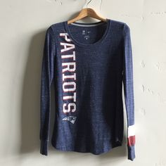 | Nike Patriots Top Navy blue long sleeve shirt.  60% cotton and 40% polyester.  In great condition. Nike Tops