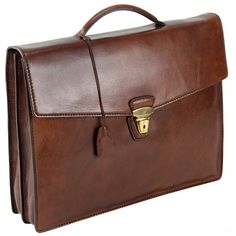 The Bridge Leather Man Briefcase TODAY BUSINESS Document case brown 06104001 /14: Amazon.co.uk: Shoes & Bags