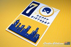 Kirsten Aitchison | Calling All Heroes - Happy Birthday | CAS(E) this sketch! #230 | Click to find out more | #kirstenaitchison #casethissketch #cts230 #crazycrafters #stampinup #callingallheroes #superhero #largenumbers #layeringcircles #birthday #handmade
