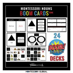 Montessori | Study of Nouns | 24 Boom Card™ Decks by Montessori Global What Is A Noun, Singular And Plural Nouns, Language Activities, Deck Of Cards, Grammar, Decks, Montessori, Study, Ads