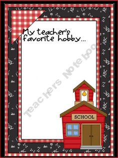 """""""All about my teacher """" cute - create  photo album/binder for students"""