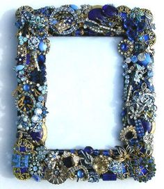 vintage jeweled decor | her creations on her facebook page Mebbie's Vintage Jeweled Decorative ...